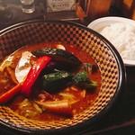 Supukariandohambagutatsuki - 豚の角煮カレー1150円