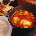Supukariandohambagutatsuki - ハンバーグカリー1350円             チーズトッピング190円