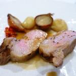 ラ ジュネス - つなんポークロース肉のゆっくりロースト 山椒のコンディマン