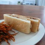 ソラシド - 食パンの耳で作ったベーコンバナナピーナツバターサンド