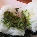 にぎり米 - ふき味噌