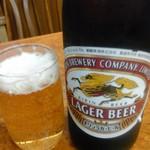 かし亀 - 瓶ビール中瓶