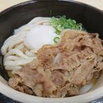 54599135 - オリーブ玉子肉ぶっかけうどん(中・冷)