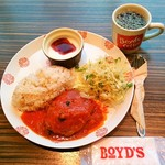 ボイドコーヒー 小田急OX万福寺店 - トマトハンバーグ(プレートランチ)