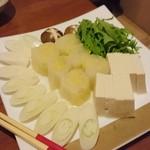 日本料理 空海 - すっぽんコース 鍋の野菜