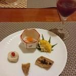 日本料理 空海 - すっぽんコース 前菜とすっぽん酒