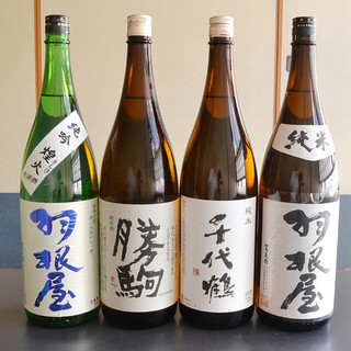 勝駒など富山の地酒も多数あります!