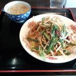 GOBAN - たまねぎレバ麺(880円)