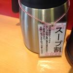 博多元助 - スープ割りは普通、最後に割ってスープを飲んで楽しむものなのに…福岡人、誤解しないように!