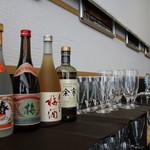 グルメ廻転寿司 まぐろ問屋 やざえもん - ドリンク写真:寿司に合わせた銘酒。春雨マイルド25、余市、あらごし梅酒(奈良)他