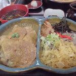 みなとや - アベック丼 豚丼&冷たぬき(980円)