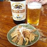 喜八 - H28.07.23 瓶ビールとメンマ