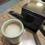 千束そば - 蕎麦湯
