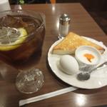 喫茶リッチ - モーニングセット(アイスレティー) 450円 (2016.7)