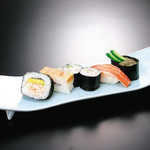 かに寿司五種盛