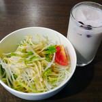 祭 - サラダ&ラッシー