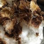 あんこ椿 - チョコかき氷。意外と大人に人気です!
