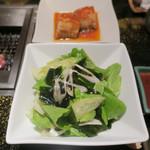 游玄亭 - ワカメ入りサラダ