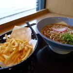 阪急そば 桂店 - ポテそば提供時