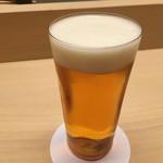 銀座 鮨青木 - 生ビール