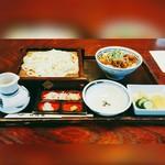 佐鳴庵 - カルビ丼プラスせいろ980円(蕎麦またはうどん)