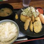 Kushikatsudengana - 特製串カツ定食@680円