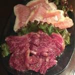 神戸焼肉 樹々 - 特上和牛ハラミ&豚トロ♪