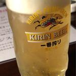 神戸焼肉 樹々 - キリン一番搾り♪