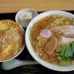 あじ仙 - 料理写真:中華そばとミニかつ丼のセット750円