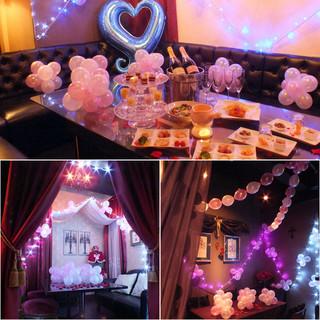 女子会や誕生日はバルーンで可愛く個室装飾♪