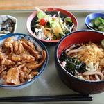 だるま亭 - 焼肉丼セット     980円