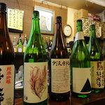 くいもんや 一歩 - 日本酒の種類も豊富です