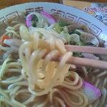 味楽食堂 - 麺はこんな感じ【2010.10】