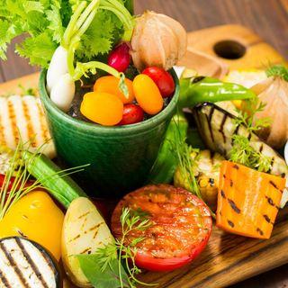 大野農園の『野菜盛り』プレート