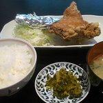 鶏の白石 - 唐揚げもも定食@600