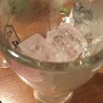 54657049 - 氷を頼んだらグラスにいれてきた
