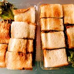 キッチンぶるどっく - お土産にしたハンバーグサンドとカツサンド