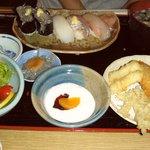寿司懐石 かご家 - 品数が多くて女性に人気No1の「地魚らんち」