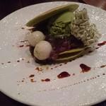 寺カフェ - 抹茶米粉パンケーキ