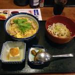 魚や一丁 - 選べる丼とたぬきうどん800円定食