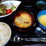 ゆずカフェ - チーズハンバーグ定食