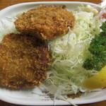 食堂 広島屋 - 食堂広島屋 メンチカツアップ
