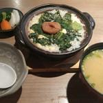 Sakanaichiba - 広島菜雑炊と後料理味噌汁