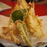 割烹 田舎 - 天ぷら盛り合わせ