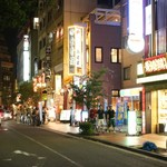 福満園 - お店の前の通り