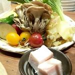 54681455 - 「新鮮やさいとひつじのセット」野菜てんこ盛り