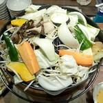 54681456 - 「新鮮やさいとひつじのセット」野菜てんこ盛り