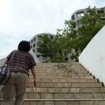 オステリア パーチェ - 階段を上ります