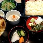 日本酒スローフード 方舟 - 氷見饂飩と白海老掻揚少丼