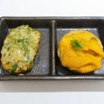 ラ・ファソン 古賀 - 知床産雲丹のタルトレット & 自家製スモークサーモンのリエット